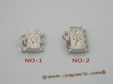 snc019 925silver carve box clasp for wholesale