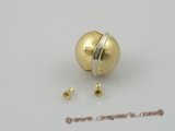 snc024 15mm gold plate ball shape single necklace clasp
