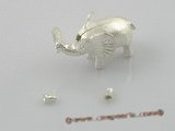 snc025 16*26mm 925silver elephant design single necklace clasp