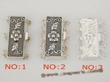 snc036 sterling silver multi-strand carve flower box jewelry clasps in wholesale
