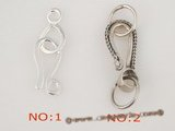 snc047 sterling silver 25*13mm lobster clasps for single necklace