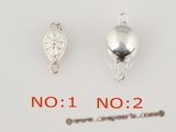 snc048 sterling silver push-in necklace clasp in wholesale