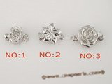 snc050 8mm sterling silver chiselled flower single necklace clasps