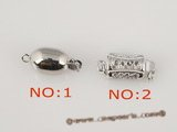snc051 Sterling 8*18mm oval single strand jewelry clasp