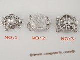 snc055 Round antique 925silver push-in jewelry clasp in factory price