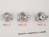 snc056 Round flower 925silver push-in jewelry clasp in wholesale price