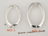 snc057 wholesale 925 sterling silver oval hook necklace clasp