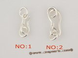 snc058 Wholesale sterling silver hook jewerly clasp with fish clawe design