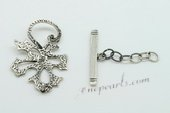 snc060 925silver toggle jewerly clasp with leafe design in wholesale
