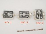 snc062 wholesale 925silver oblong push-in antique clasp in low price