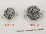 snc065 wholesale 925silver round push-in antique powerful mark clasp