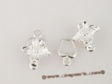 snc073 wholesale Sterling silver carve flower jewelry clasp