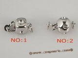 snc075 Wholesale 5pieces 925silver single jewelry clasp with zircon