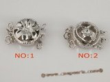 snc076 Wholesale 5pieces 925silver round push-in jewelry clasp