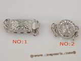 snc077 Wholesale triple strands sterling silver pattern push-in clasp