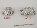 snc078 Wholesale leafe pattern round sterling silver push-in clasp