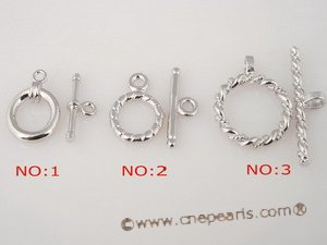 snc079 Sterling silver toggle necklace clasp wholesale online