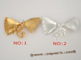 snc083 wholesale 28*55mm 952silver fan-shaped necklace clasps in low price