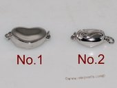 Snc145 Sterling Silver 9*19mm Heart Shape Clever Stick Clasp