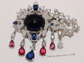 Snc181 Sterling Silver Jewelry Clasp with Zircon Bead