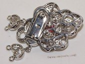 Snc184  Sterling Silver Jewelry Clasp with Zircon Bead