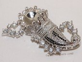 Snc185 Sterling Silver Christmas Cap  Design Jewelry Clasp with Zircon Bead