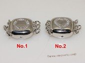 snc186 Sterling Silver Necklace Jewelry Clasp with Zircon Beads