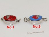 snc187  Sterling Silver Enamel  Necklace Jewelry Clasp