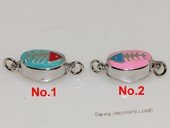 snc188  Sterling Silver Enamel  Necklace Jewelry Clasp