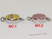 snc189  Sterling Silver Enamel  Necklace Jewelry Clasp