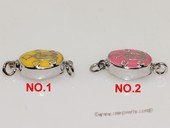 snc190  Sterling Silver Enamel  Necklace Jewelry Clasp