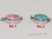 snc191  Sterling Silver Enamel  Necklace Jewelry Clasp