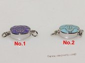 snc192  Sterling Silver Enamel  Necklace Jewelry Clasp
