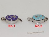 snc193  Sterling Silver Enamel  Necklace Jewelry Clasp