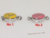 snc194  Sterling Silver Enamel  Necklace Jewelry Clasp