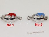 snc195  Sterling Silver Enamel  Necklace Jewelry Clasp