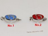 snc196 Sterling Silver Enamel  Necklace Jewelry Clasp