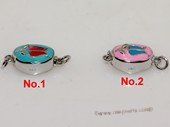 snc197  Sterling Silver Enamel  Necklace Jewelry Clasp