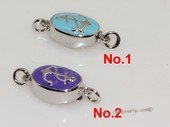 snc198  Sterling Silver Enamel  Necklace Jewelry Clasp