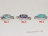snc199  Sterling Silver Enamel  Necklace Jewelry Clasp