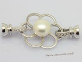 Snc207 Flower design Sterling Silver Jewelry Clasp with Zircon Bead