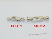 Snc215 Lobster style necklace clasp in 925 sterling silver with zircon