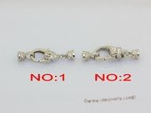 Snc219 Sterling silver Lobster style necklace clasp with zircon