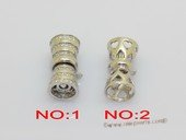 Snc222 Wholesale Sterling Silver Push-in Clasp For Necklace Bracelet Jewelry