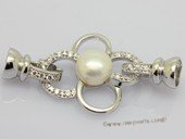 Snc223 Flower design Sterling Silver Jewelry Clasp with Zircon Bead