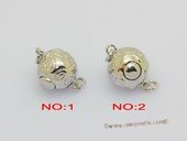 Snc226 Ball shape sterling silver push in clasp wholesale