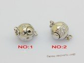 Snc227 Ball shape sterling silver push in clasp wholesale
