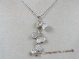 sp012 White Shell Mother Of Pearl CZ Butterfly Pendant