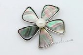 sp056 45mm flower-design Abalone shell Pendant wholesale