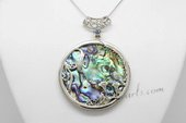 sp117 Wholesale modern 62mm Abalone Shell pendant in Donut design
